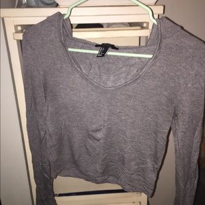 Forever 21 Cropped Hooded Long Sleeve